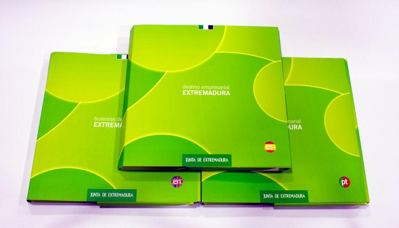 Destino empresarial Extremadura carpetas
